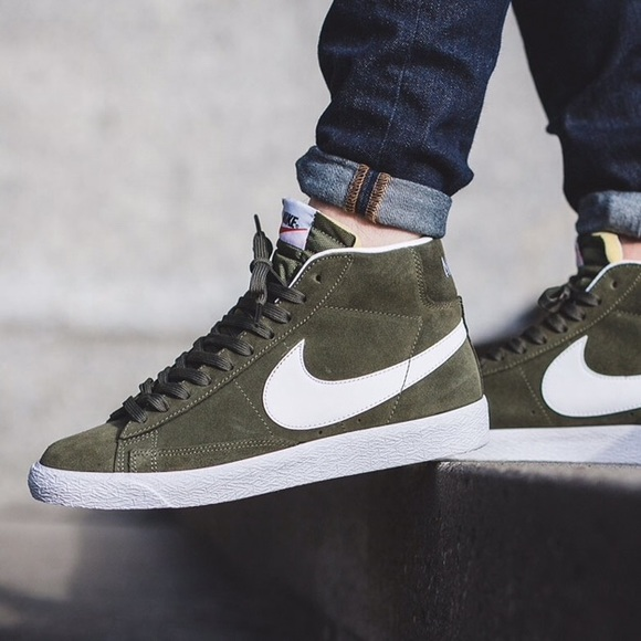 super popular 571ef 5fd7a Nike olive green suade high tops. M 5ade267ccaab44fc41dc0f3e
